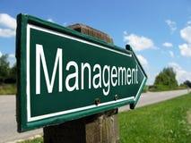 Cartello della gestione Fotografie Stock