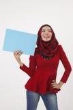 Cartello della tenuta di Musliman Fotografia Stock Libera da Diritti