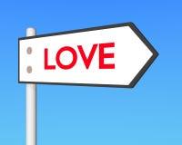 cartello di amore 3D Fotografia Stock