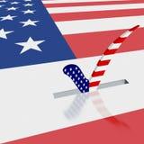 Cartello di elezione Immagini Stock Libere da Diritti
