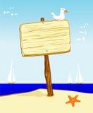 Cartello nel legno Fotografia Stock Libera da Diritti