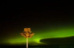 Cartello nell'ambito dell'aurora nel punto di Stirling Fotografia Stock Libera da Diritti