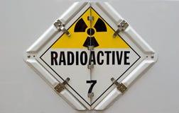 Cartello radioattivo Fotografie Stock