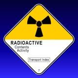 Cartello radioattivo 2 Fotografie Stock Libere da Diritti