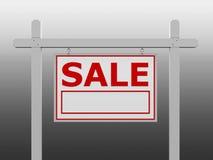 Cartello rosso di vendita Immagini Stock