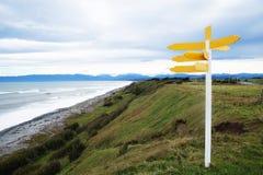 Cartello sulla spiaggia Immagine Stock Libera da Diritti