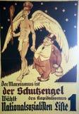 Cartellone elettorale 1932 del tedesco Immagini Stock