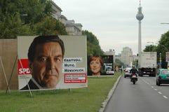 Cartelloni elettorali Immagini Stock Libere da Diritti