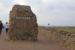 Carter bar na granicie z Szkocja, UK zdjęcia royalty free