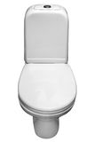 Carter blanc de toilettes de porcelaine. Image libre de droits