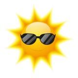 Caráter bonito de Sun Foto de Stock Royalty Free