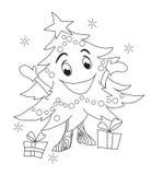 Caráter da árvore de Natal Imagens de Stock Royalty Free