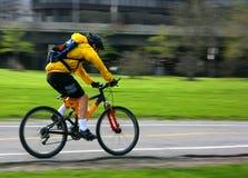 Carter de vélo de montagne Photographie stock