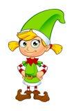 Caráter do duende da menina no verde Fotos de Stock