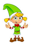 Caráter do duende da menina no verde Fotografia de Stock Royalty Free