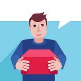 Caráter do vetor - serviço de entrega Foto de Stock