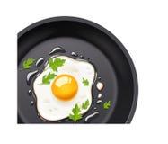 carter frit d'oeufs cuisson de la nourriture illustration stock
