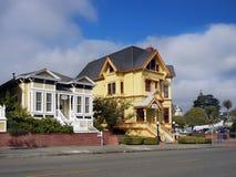 Carter House Inn viktorianska byggnader, Eureka Kalifornien royaltyfri fotografi