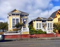 Carter House Inn viktorianska byggnader, Eureka Kalifornien arkivbild