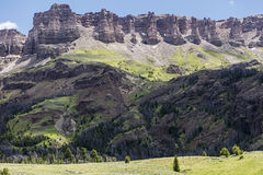Carter Mountain volcanic talus cliffs Royalty Free Stock Images