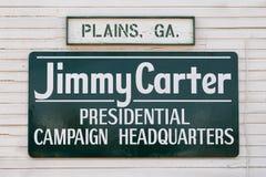 Carter Prezydenckiej kampanii kwatery główne Fotografia Royalty Free