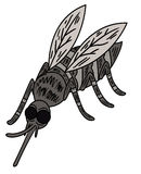 Caráter selvagem do animal dos desenhos animados do mosquito Imagens de Stock