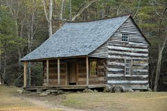 Carter Shields Cabin. Historic Carter Shields Cabin in Cades Cove Royalty Free Stock Photos