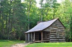 Carter Shields Cabin bij Cades-Inham, een historisch logboekhuis bouwde 1880s in Royalty-vrije Stock Foto