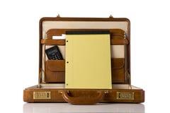 Cartera con la tablilla en blanco Fotos de archivo libres de regalías