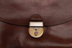 Cartera de cuero marrón del Grunge Imágenes de archivo libres de regalías
