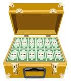 Cartera del oro con el dinero libre illustration