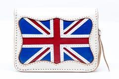 Cartera nacional de la bandera de Inglaterra en el fondo blanco Imagen de archivo libre de regalías
