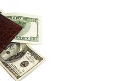 Cartera y dinero americano Foto de archivo