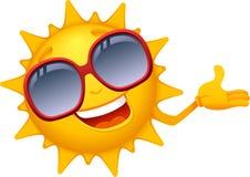 Caráteres 2 de Sun dos desenhos animados Fotografia de Stock