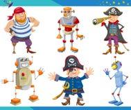 Caráteres da fantasia dos desenhos animados ajustados Fotografia de Stock
