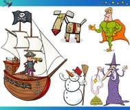 Caráteres da fantasia dos desenhos animados ajustados Foto de Stock Royalty Free