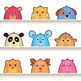Caráteres do animal dos desenhos animados Fotos de Stock Royalty Free