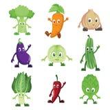 Caráteres dos vegetais Fotos de Stock Royalty Free