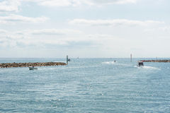 Carteret,法国,诺曼底港  免版税库存图片