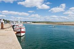 Carteret,法国,诺曼底港  库存照片