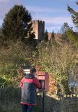 Cartero en el castillo de Farleigh Fotos de archivo