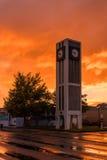 Carteron Town Clock Sunrise Stock Photo