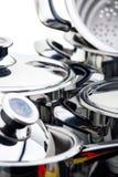 Carters d'acier inoxydable Image stock