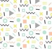 Cartes à la mode de Memphis Configuration sans joint abstraite Photos libres de droits