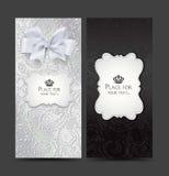 Cartes élégantes avec la conception florale Photographie stock