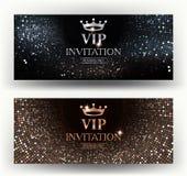 Cartes élégantes d'invitation de VIP avec le fond abstrait Image libre de droits