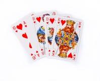 Cartões afortunados Fotografia de Stock