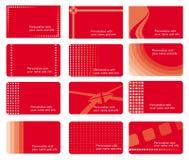 Cartões ajustados Foto de Stock Royalty Free