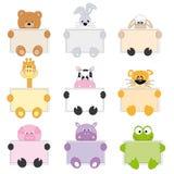 Cartões animais Imagens de Stock