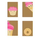 Cartes avec des bonbons illustration libre de droits